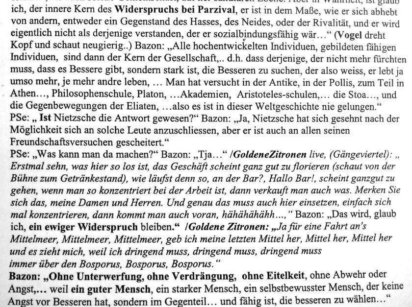 Collatetext (Transscript) des Films von Peter Sempel, 34 min